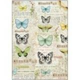 Stamperia Ris papir - Butterfly A4 (1 ark)