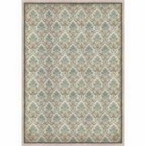 Stamperia Rispapir A3 - Packed Turquoise Brown Wallpaper