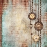 rispapir Clockwise chains with clocks and keys 50x50 cm